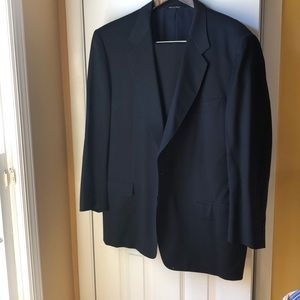 Barney's New York Navy Canali Italy Wool Suit 44